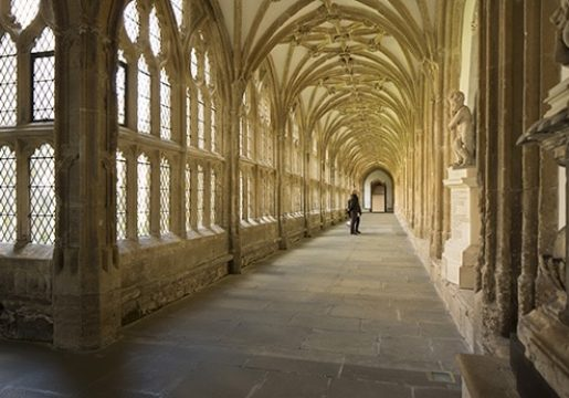 The cloisters of Wells Cathedral